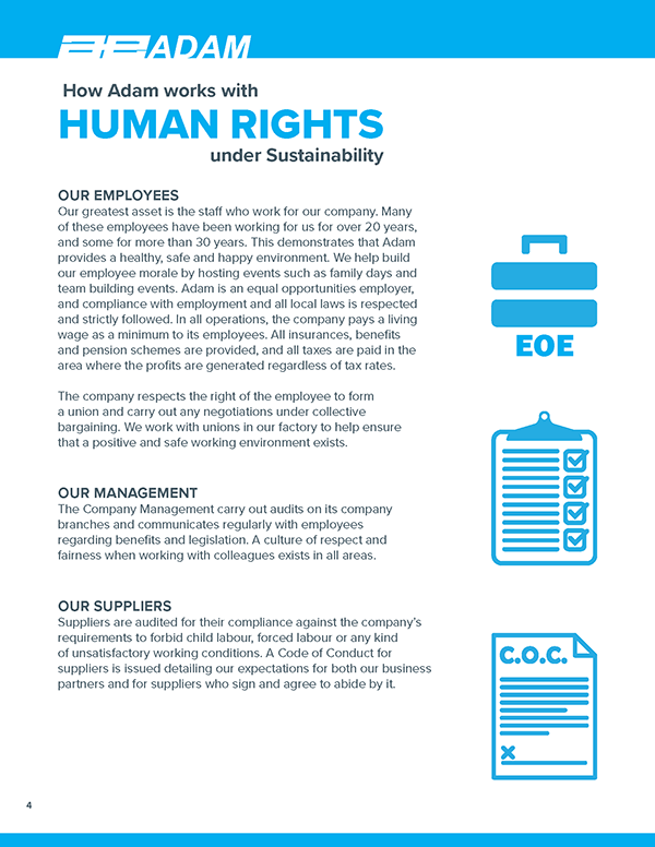 How Adam works with human rights