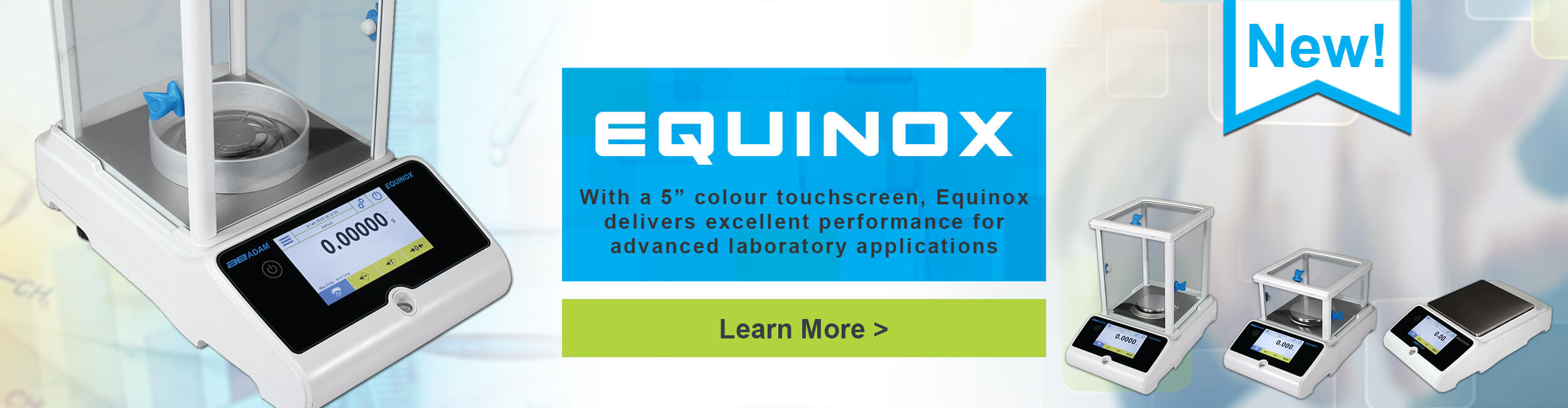 "Equinox - With a 5"" color touchscreen, Equinox delivers excellent performance for advanced laboratory applications"